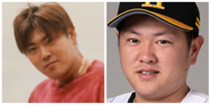 津森宥紀選手と父親の顔比較画像