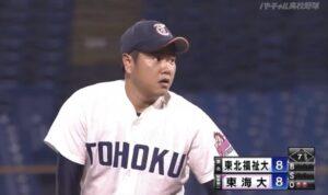 大学時代の津森宥紀選手のマウンド上の表情