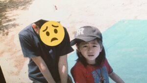 澤口美歩アナが幼少期時代の兄との画像