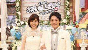 山崎夕貴アナとおばたのお兄さんがお笑い向上委員会で結婚式!挙式、披露宴
