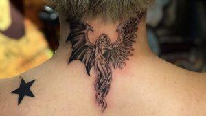 平本蓮の首の後にある天使と悪魔の羽タトゥーの意味を解説!