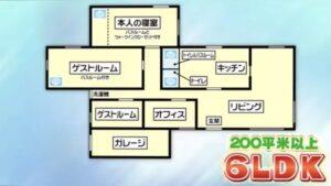 堀米雄斗の自宅の間取りは6LDK!