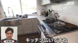 堀米悠斗の家のキッチンがきれい!