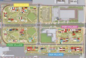 選手村の内装・マンションのエリアマップ