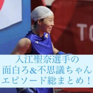 ボクシング:入江聖奈の面白い&不思議ちゃんエピソードw浮気の卒論にカエル好き!水泳帽も不思議!