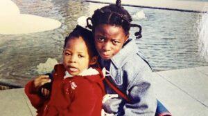 馬瓜エブリンとステファニー姉妹の幼少期の画像